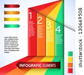 infografic elements. colorful... | Shutterstock .eps vector #130669508