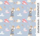 watercolor seamless pattern... | Shutterstock . vector #1306696915