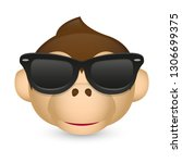 Monkey With Sunglasses. A...
