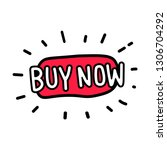 buy now button. buy now icon... | Shutterstock .eps vector #1306704292