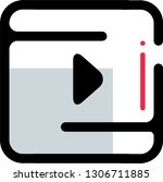 video player vector icon to be...