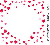 heart frame for valentines day... | Shutterstock .eps vector #1306724218