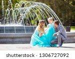 joyful happy family of father ...   Shutterstock . vector #1306727092