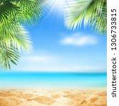 summer background  nature of... | Shutterstock . vector #1306733815