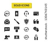 service icons set with user...