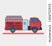 fire truck vector illustration   Shutterstock .eps vector #1306752925