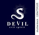 vector poisonous snake  evil...   Shutterstock .eps vector #1306759105