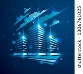 office building  modern... | Shutterstock .eps vector #1306761025