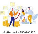 business coaching. office team... | Shutterstock .eps vector #1306763512