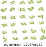 flying wad of money. flat...   Shutterstock .eps vector #1306766182