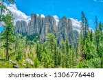 cathedral spires from the... | Shutterstock . vector #1306776448