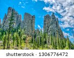 cathedral spires from the... | Shutterstock . vector #1306776472