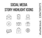 social media story highlight... | Shutterstock .eps vector #1306789075