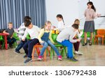 happy laughing pupils of...   Shutterstock . vector #1306792438