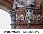 sculpted bat  detail of the... | Shutterstock . vector #1306800892