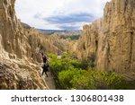 moon valley  la paz bolivia... | Shutterstock . vector #1306801438