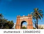 triumphal arch of barcelona ... | Shutterstock . vector #1306802452