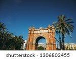 triumphal arch of barcelona ... | Shutterstock . vector #1306802455