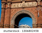triumphal arch of barcelona ... | Shutterstock . vector #1306802458
