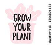 lettering hand drawn funny... | Shutterstock .eps vector #1306806688