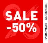 red sale banner template design ... | Shutterstock .eps vector #1306806808