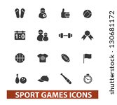 sport games icons set  vector | Shutterstock .eps vector #130681172