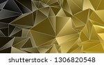 background triangulated texture.... | Shutterstock . vector #1306820548