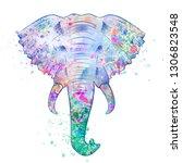 Elephant Head Made Of Paint...
