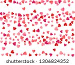 ruby red flying hearts bright... | Shutterstock .eps vector #1306824352