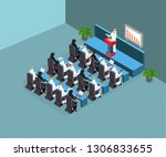 arabic people in lecture | Shutterstock .eps vector #1306833655