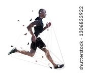 running man  low polygonal... | Shutterstock .eps vector #1306833922