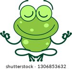 cool green frog with long legs... | Shutterstock .eps vector #1306853632