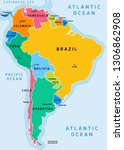 south america political... | Shutterstock .eps vector #1306862908