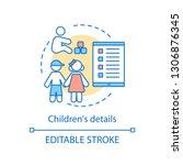 children s details concept icon.... | Shutterstock .eps vector #1306876345