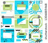 set of trendy abstract... | Shutterstock .eps vector #1306885468