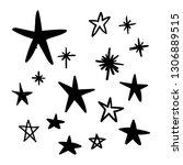 hand drawn star doodles. | Shutterstock .eps vector #1306889515