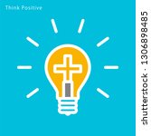 think positive image ... | Shutterstock .eps vector #1306898485