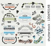 set of design elements isolated ...   Shutterstock .eps vector #130690148