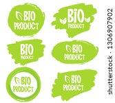 bio product  organic leaves...   Shutterstock .eps vector #1306907902