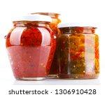 preserved vegetables on white... | Shutterstock . vector #1306910428