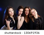 fashionable attractive party... | Shutterstock . vector #130691936