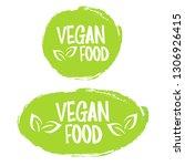 vegan food. stamp. sticker | Shutterstock .eps vector #1306926415