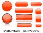 orange glass buttons.... | Shutterstock .eps vector #1306927042
