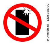 no flash photography sign for... | Shutterstock .eps vector #1306930702