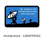 space exploration badges and... | Shutterstock . vector #1306959652