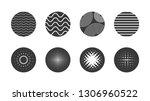 geometric circle halftone... | Shutterstock .eps vector #1306960522