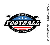 national championship. american ... | Shutterstock . vector #1306960972