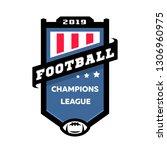 football champions league logo. | Shutterstock . vector #1306960975