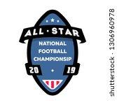 all star american football logo. | Shutterstock . vector #1306960978