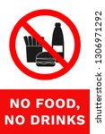 no food  no drinks sign. vector. | Shutterstock .eps vector #1306971292